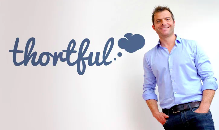 Above: Andy Pearce, ceo of Thortful is proud to help the NHS.