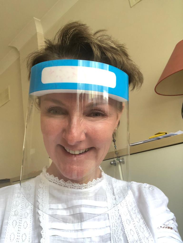 Above: Yvonne Dobbins, one of UKG's regional merchandise manager in her Windles-manufactured Medi-visor.