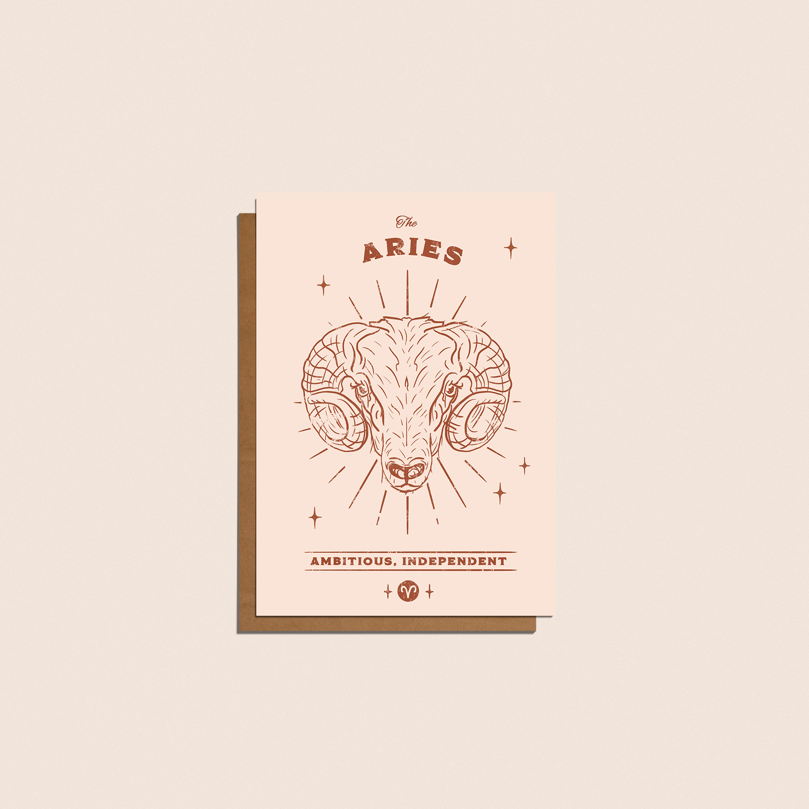 Above: Astrology and zodiac signs are on trend – a card from Cai&Jo.