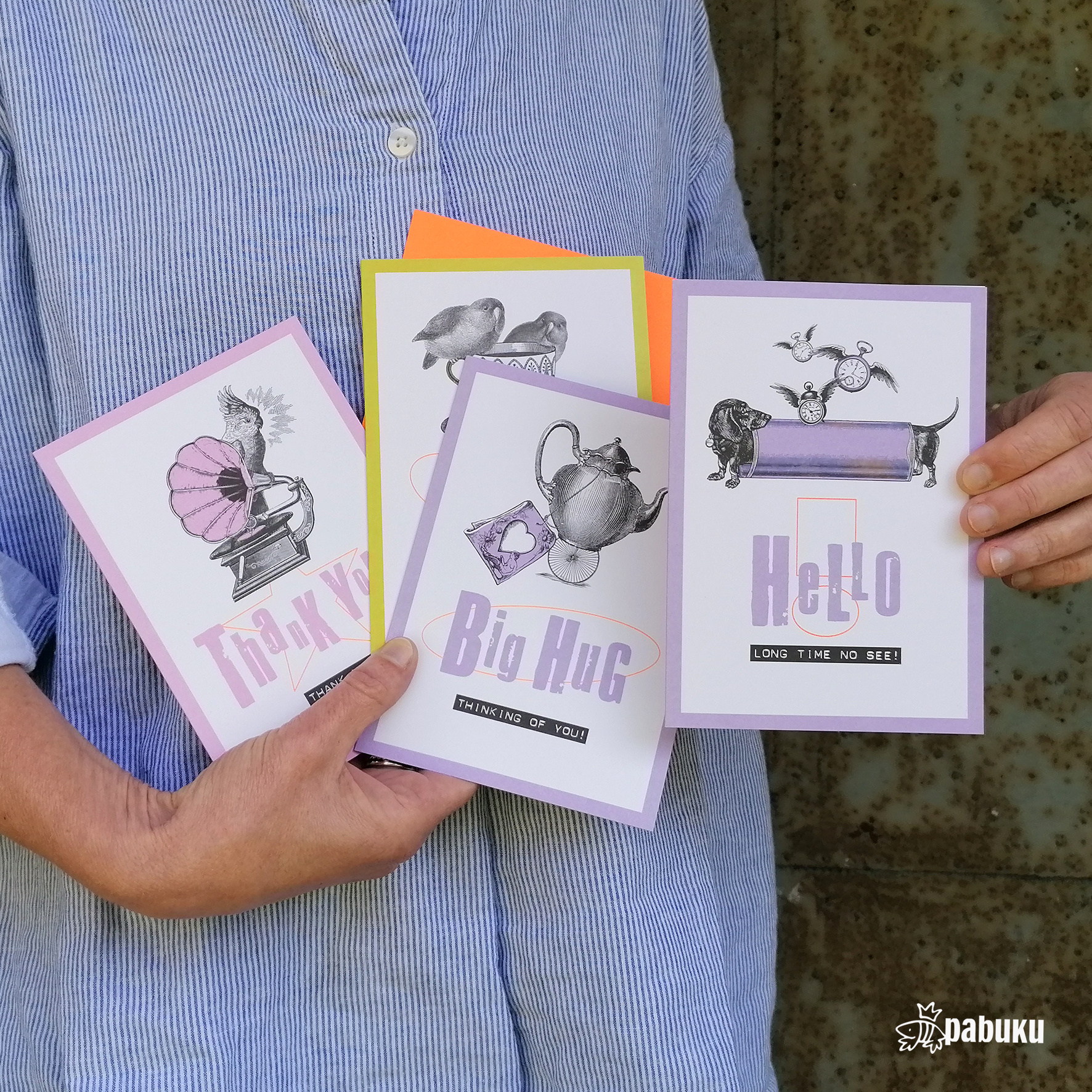 Above: Some of the Pabuku card designs that were launched at the start of this year that are so appropriate right now.