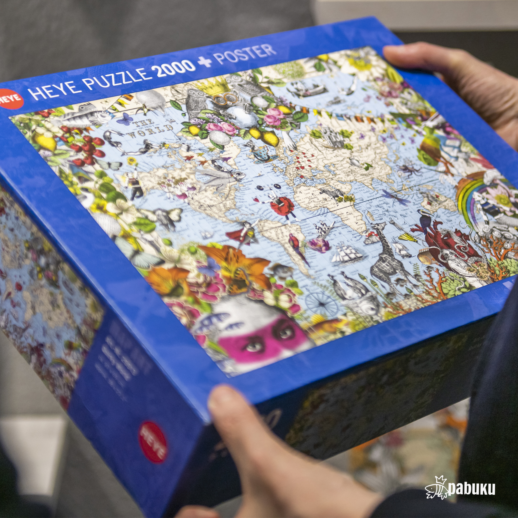 Above: While card sales may have stalled, the popularity of jigsaws, such as Pabuku's The Quirky World, has soared.