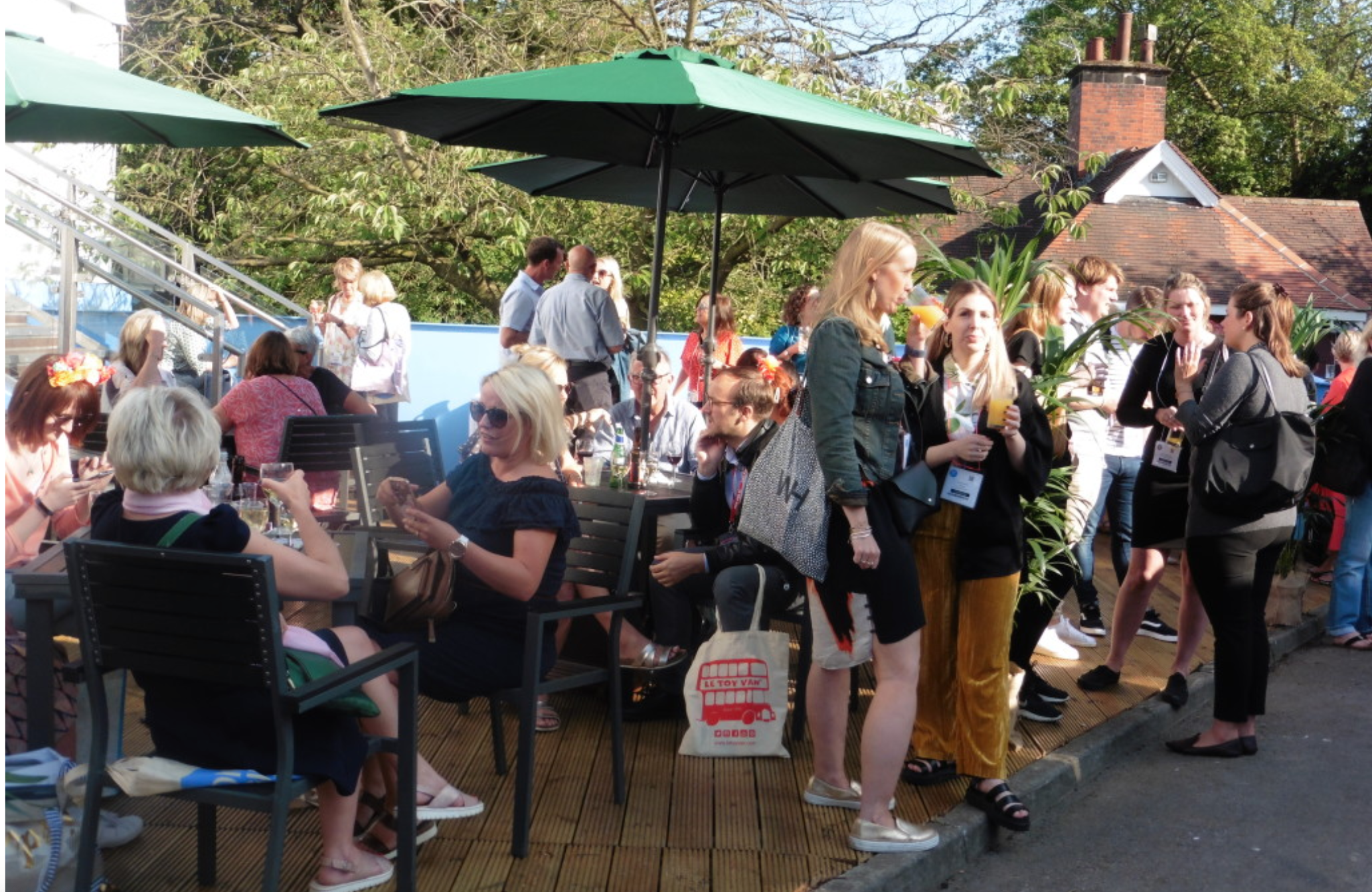 Above: Visitors enjoying the sunshine at last year's Harrogate's Home & Gift Sundowners party.