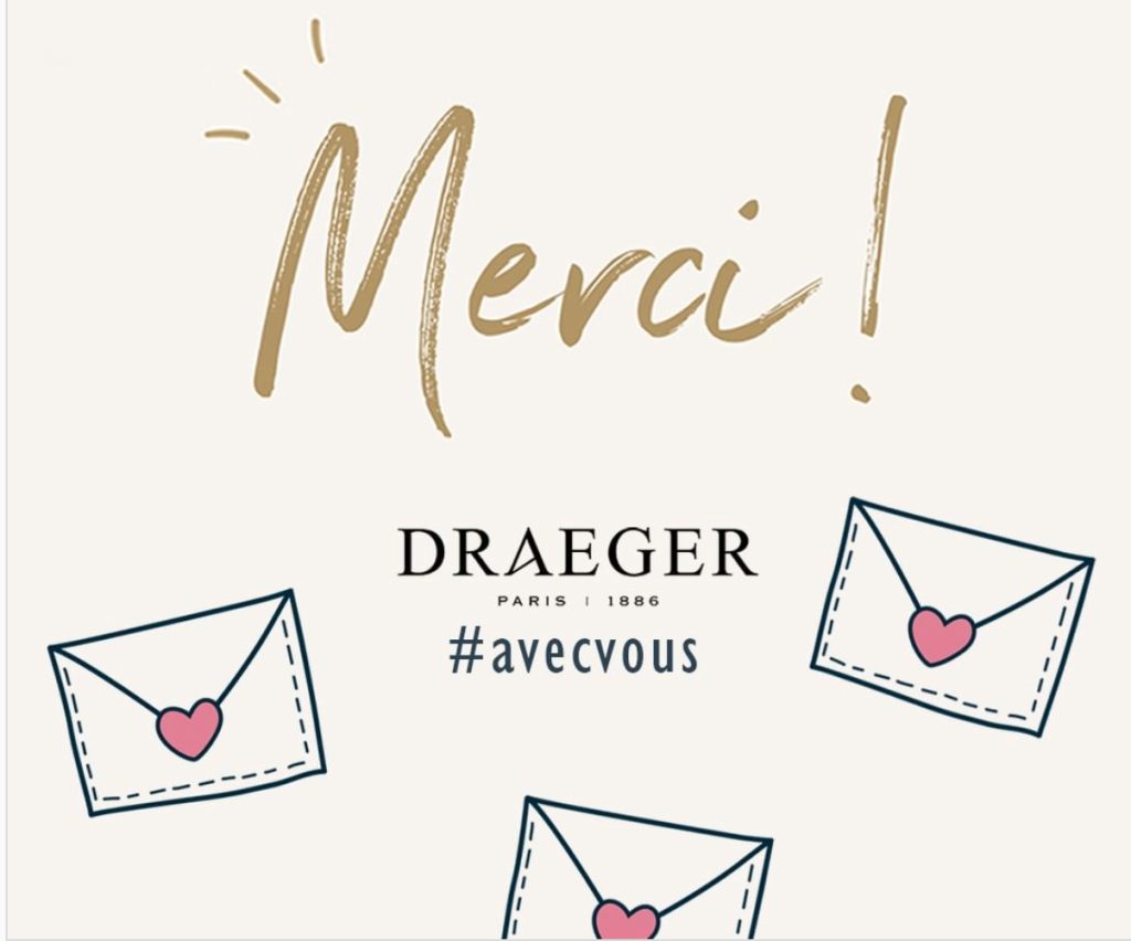 Above: Publicity for the 100,000 free card giveaway promotion from Draeger La Carterie.
