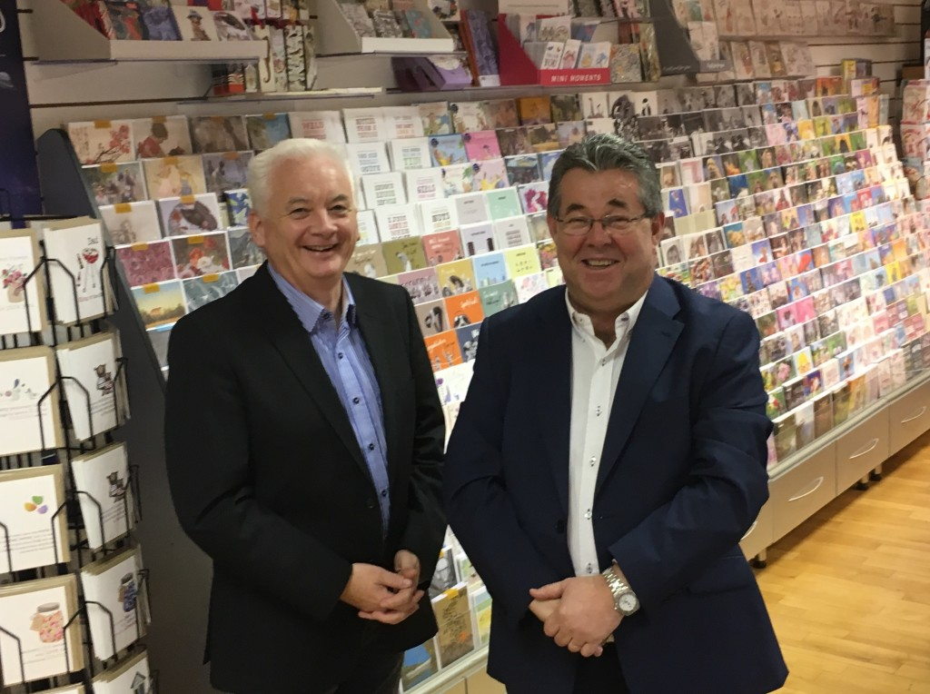 Above: Watermark Cards' co-directors Paul Slater and BrianMurtagh.