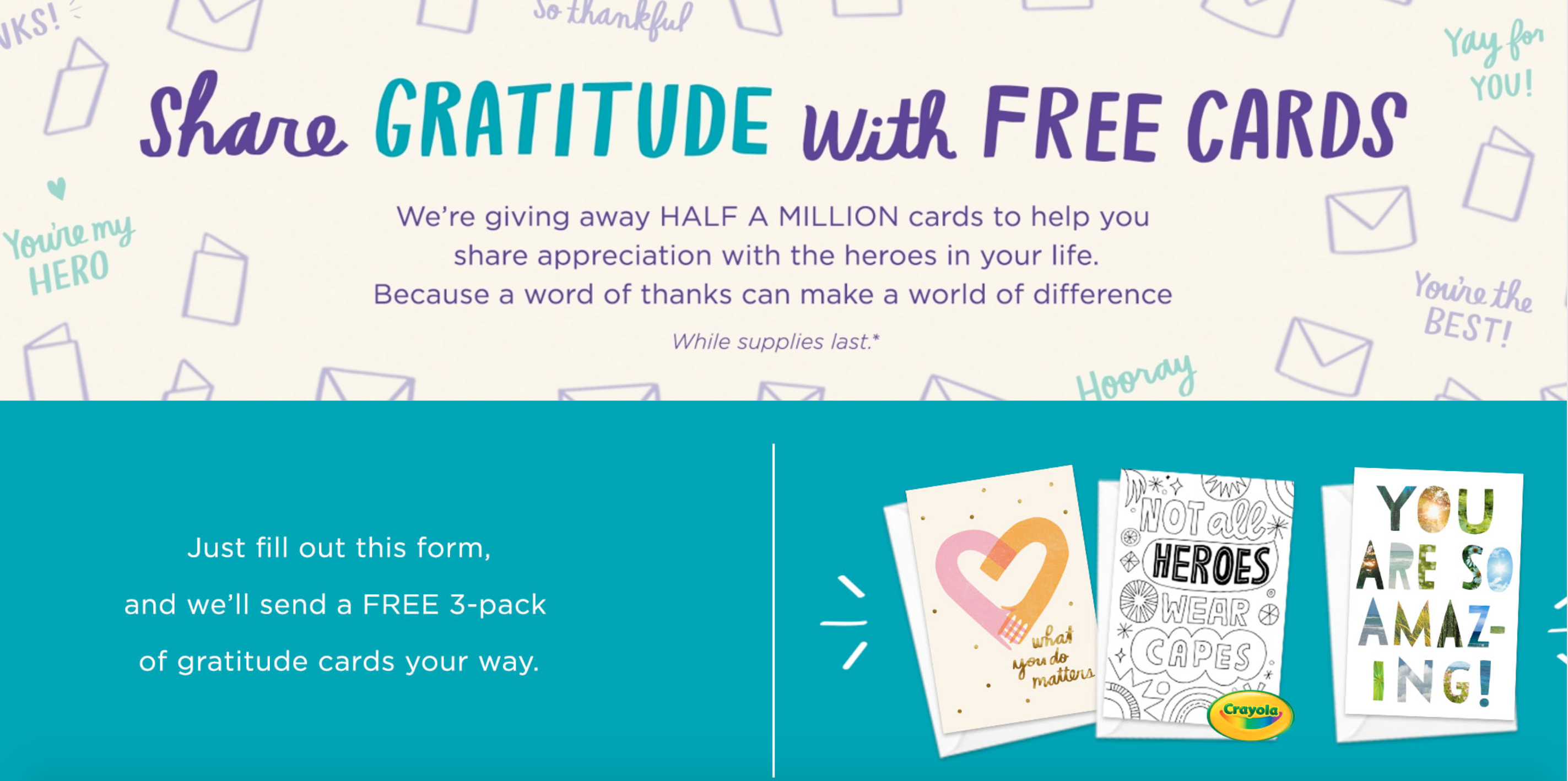 Above: The Hallmark website which features the lovely initiative.