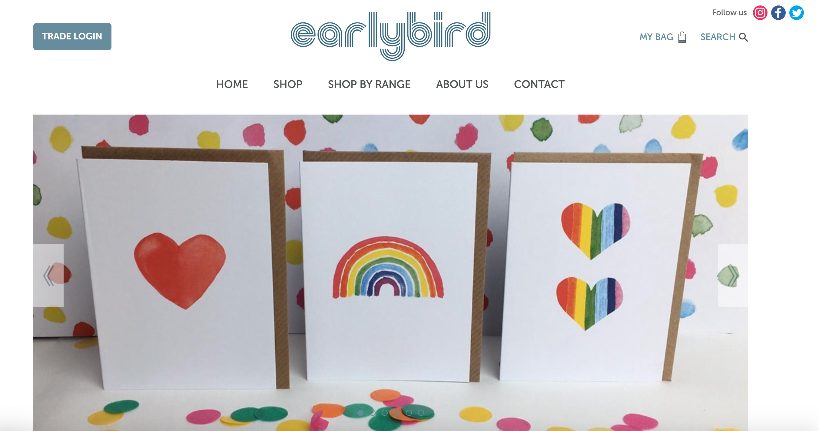 Above: Publisher and retailer Earlybird Designs is among the 40 websites Skylight Media has created for those in the greeting card community.