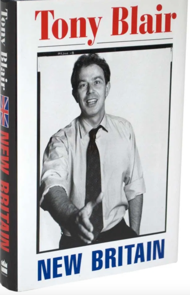 Above: Tony Blair shared his vision for Britain back in the 1990s.