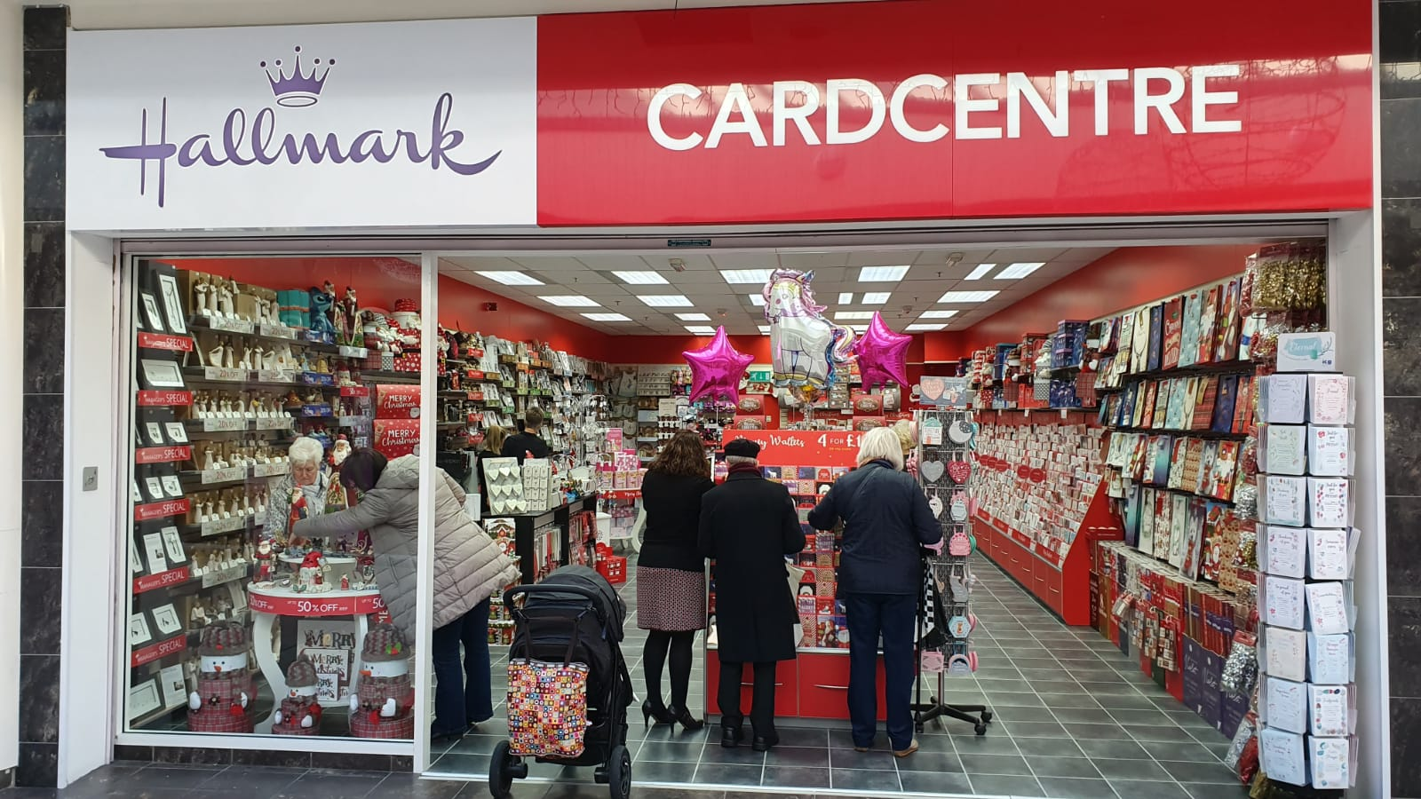 Above: Over 50 of Cardzone's shops have re-opened.