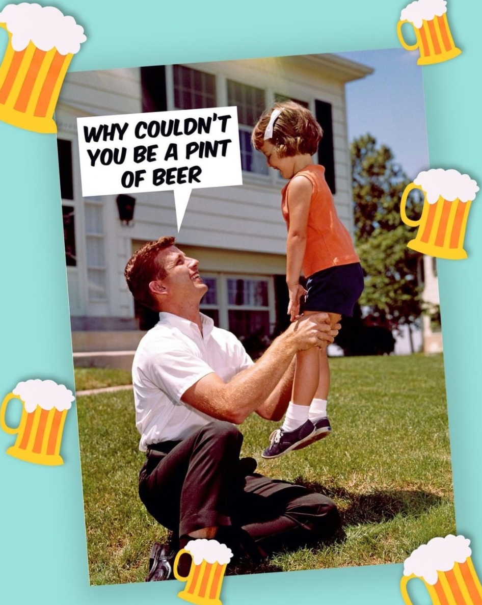 Above: A topical Father's Day card from Dean Morris that Scribbler is including in its selection.