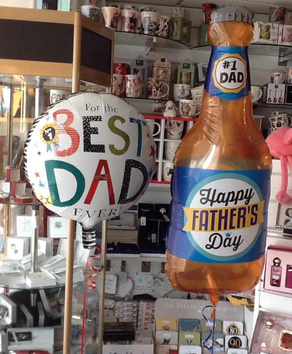 Above: Father's Day balloons formed part of the product offer from Best Wishes in Garstang.