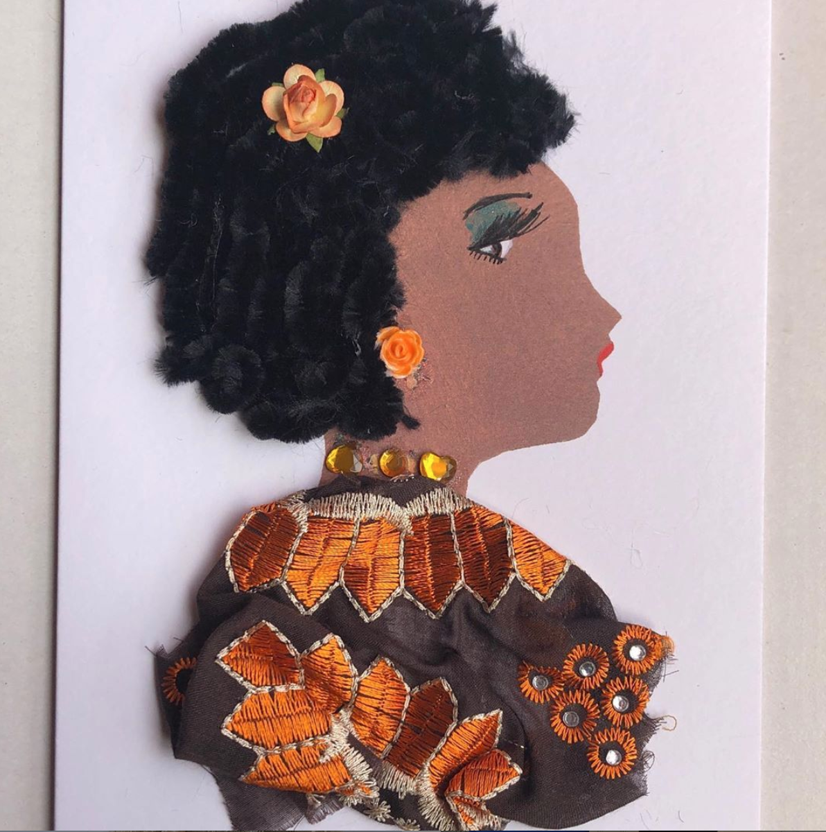 Above: Dayo creates handmade cards which feature people of 19 different skin tones.