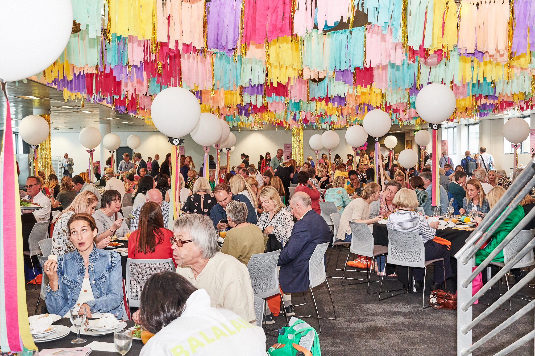 Above: With social distancing guidelines as they are, scenes like this, from the convivial lunchroom at PG Live 2019 would not be possible.