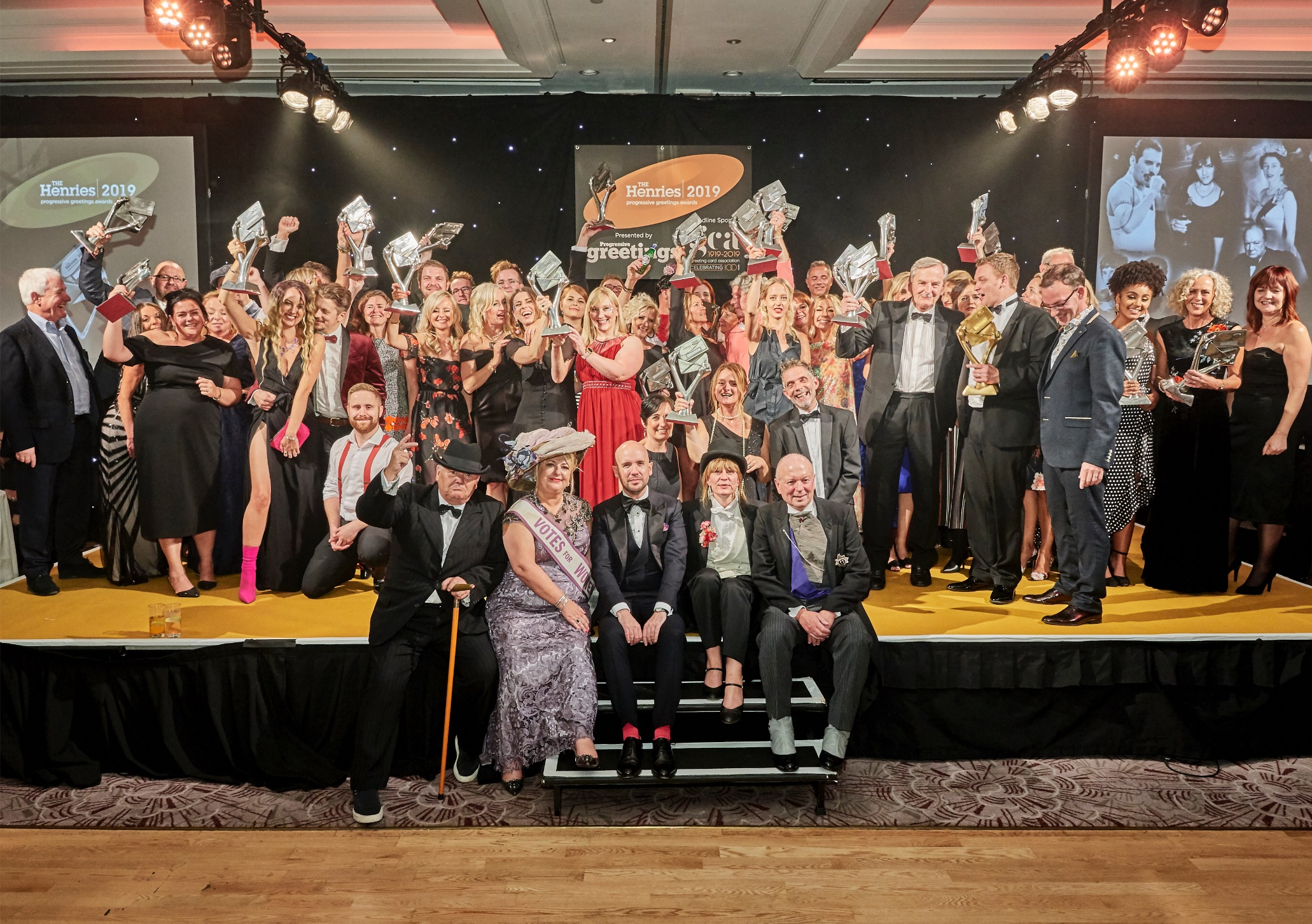 Above: Who will this year's Henries' winners be? Last year's awards event was hosted by Tom Allen (centre front).