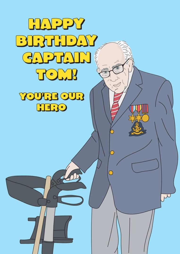 Above: A Captain Tom card on the Scribbler webshop.