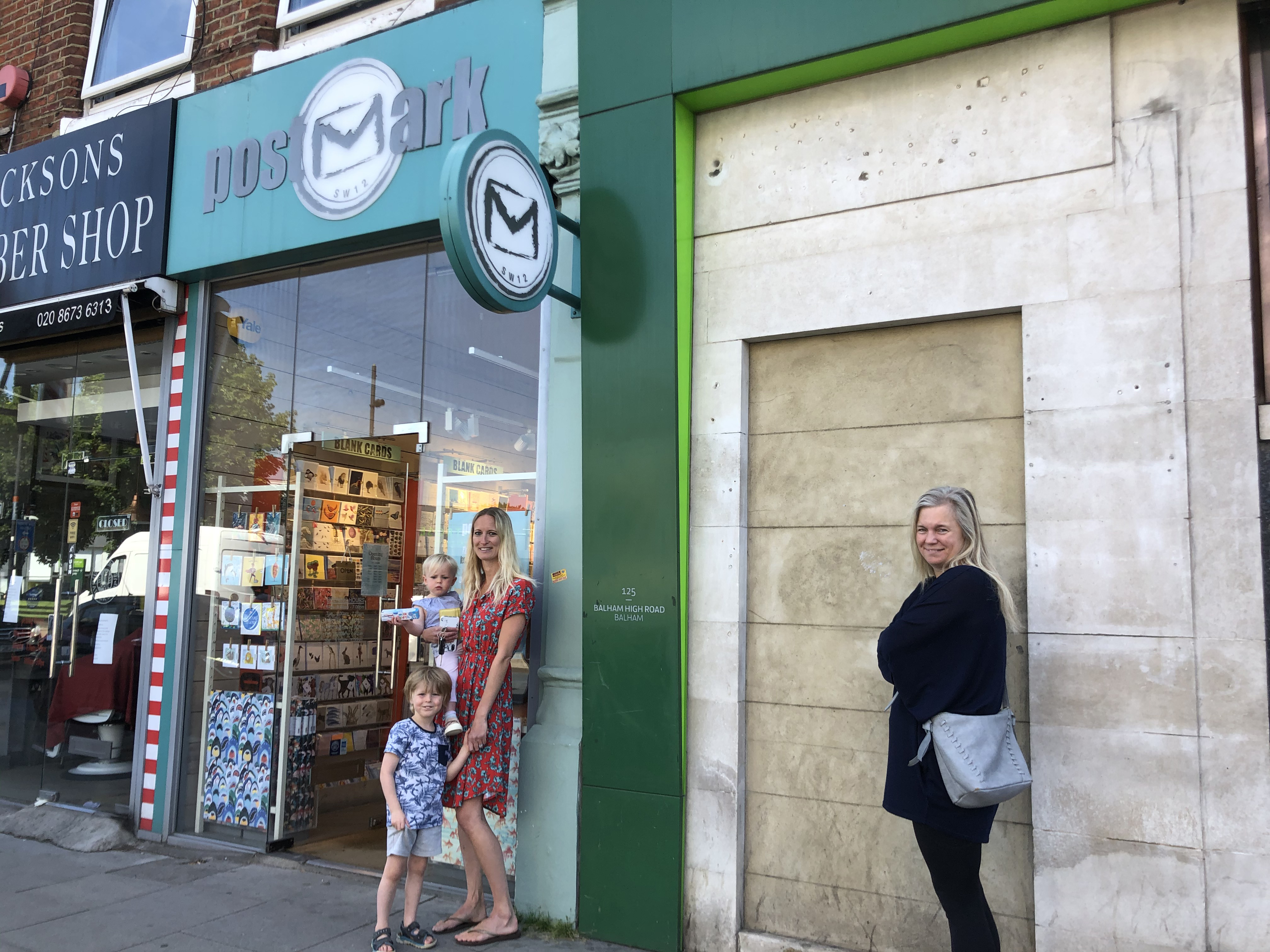 Above: The narrowness of Postmark's Balham store means that only three customers can be in there at one time, but locals were happy to wait.