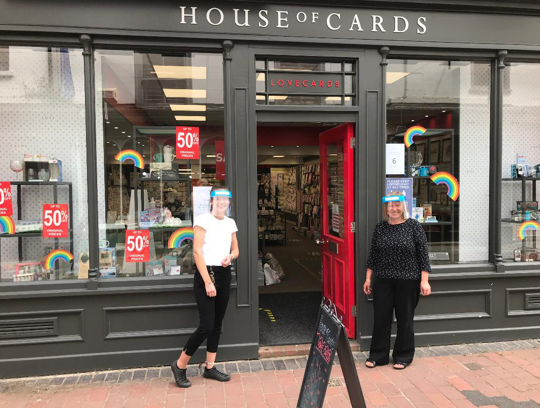 Above: A House of Cards welcome at its Wallingford shop.
