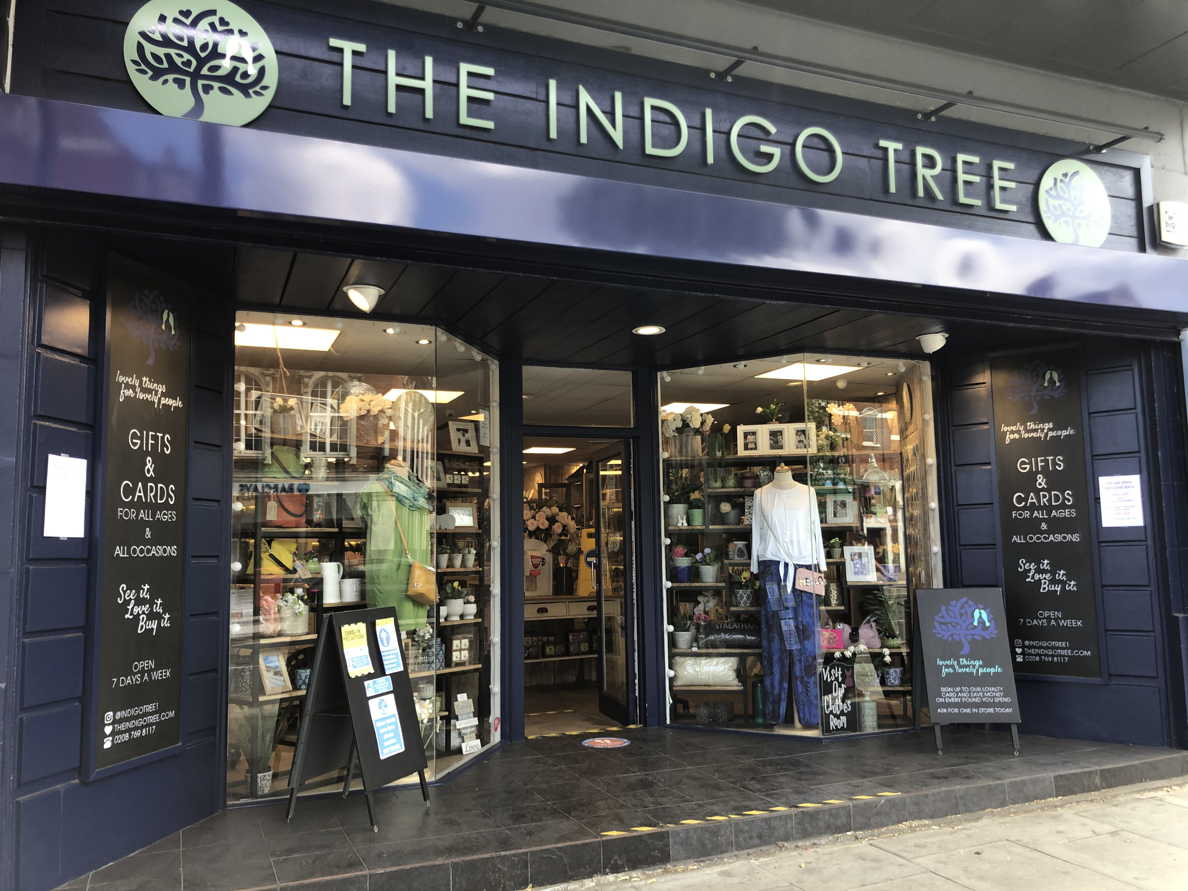 Above: The Indigo Tree, Streatham has adopted a one way system in the store.