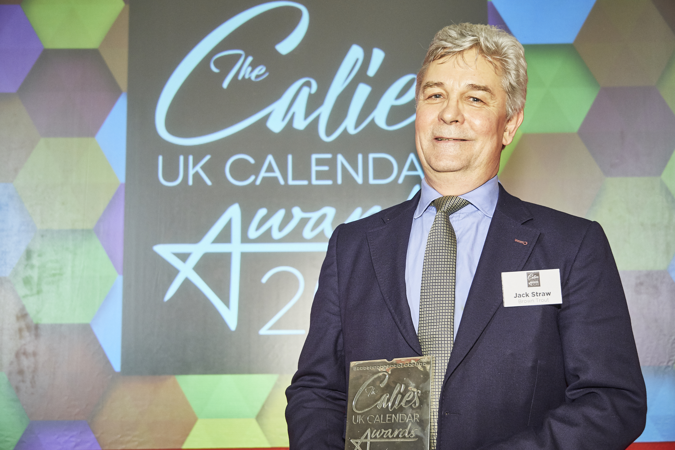 Above: In recognition of his contribution to the calendar sector, Jack Straw, md of BrownTrout UK was presented with a Calendar Ambassador award at The Calies calendar awards in 2018.