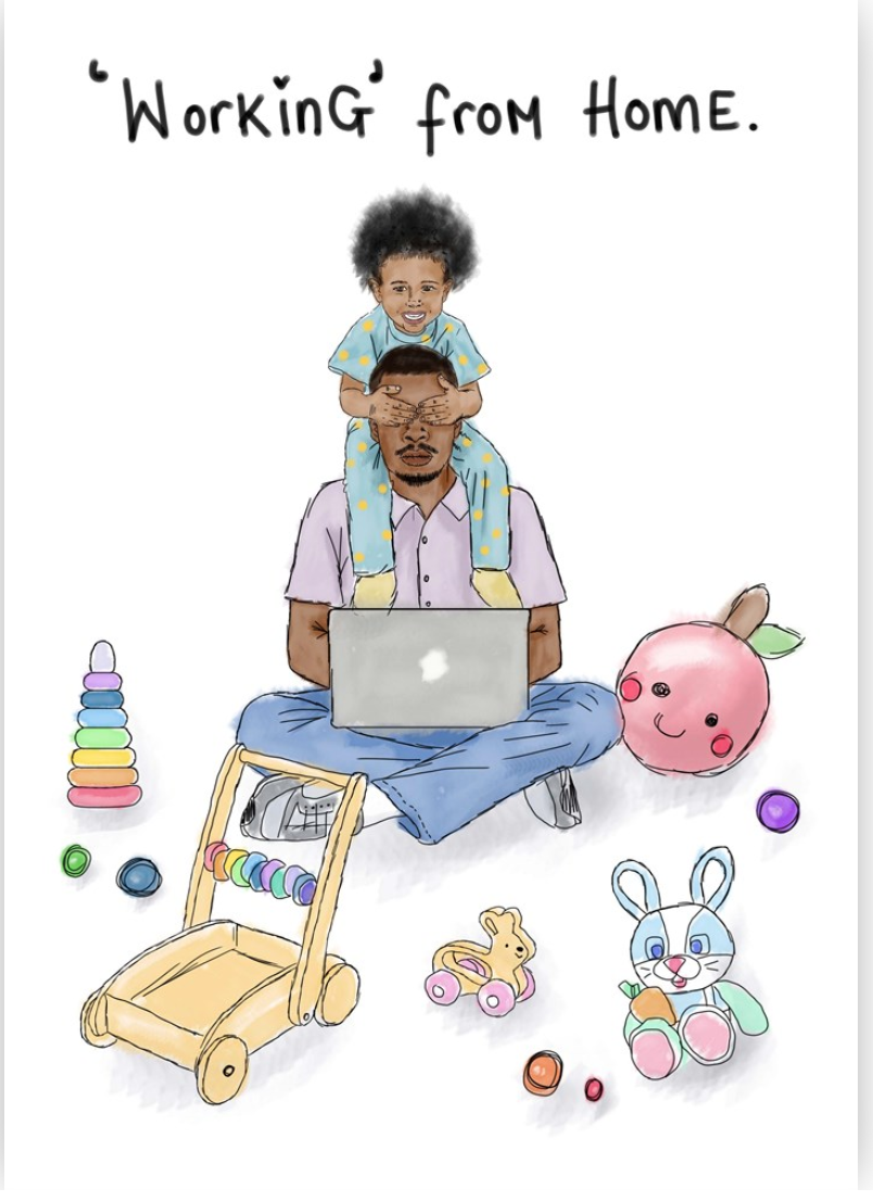 Above: One of the new KitsCH Noir designs that will definitely resonate with black dads right now!