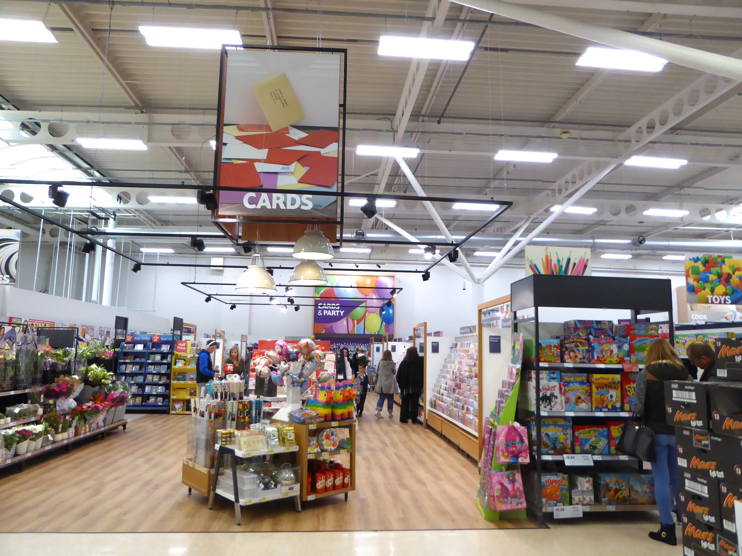 Above: The card displays are now being safely remerchandised in around 600 Tesco stores.