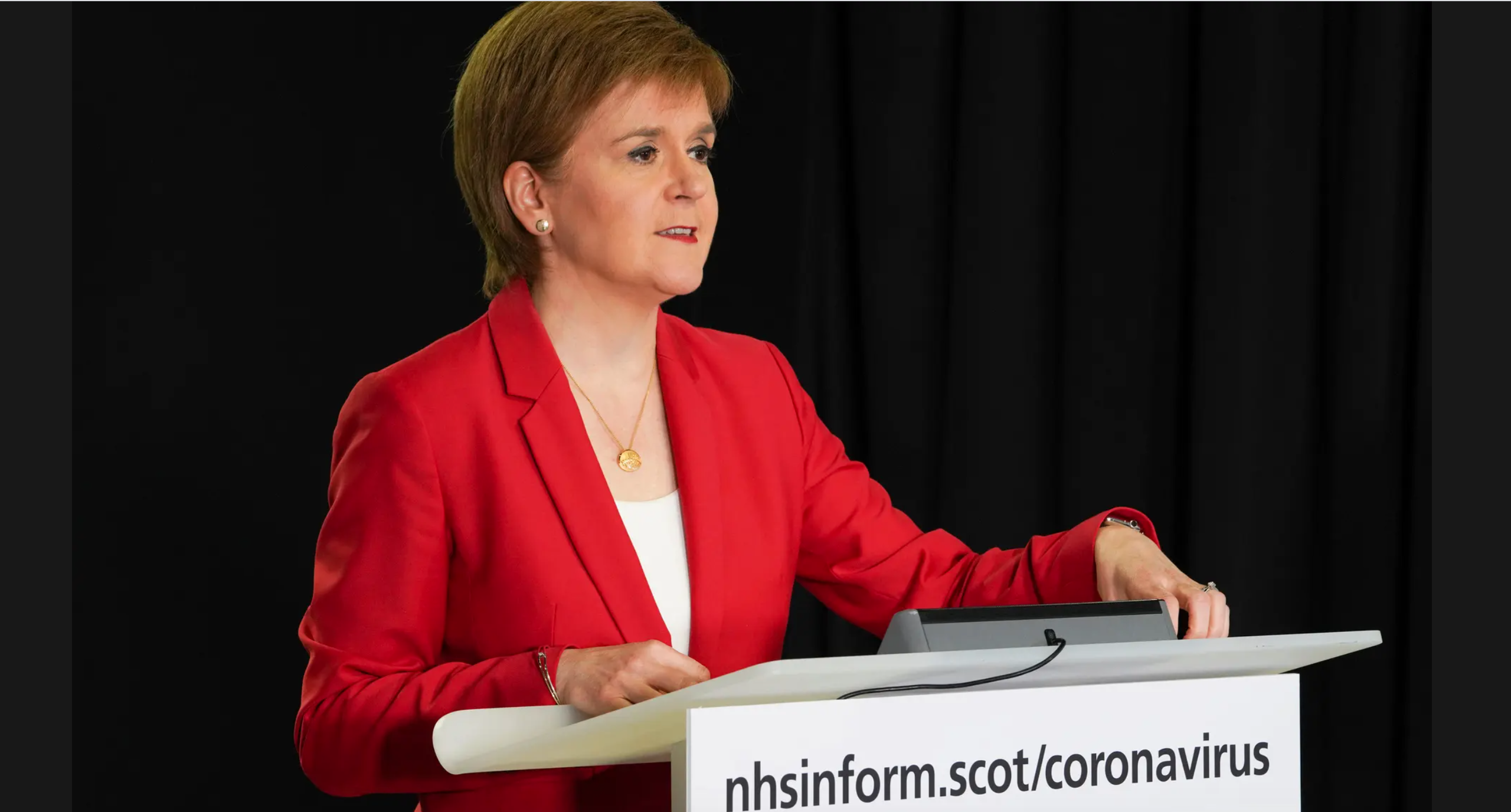 Above: Scotland's First Minister, Nicola Sturgeon has suggested a re-opening of non-essential shops in Scotland could be soon on the cards.