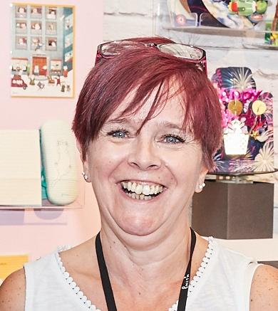 Above: Kim Lewis, card buyer for the Longacres garden centre group was happy to be part of the trial and has given the 8-8 service the thumbs-up.