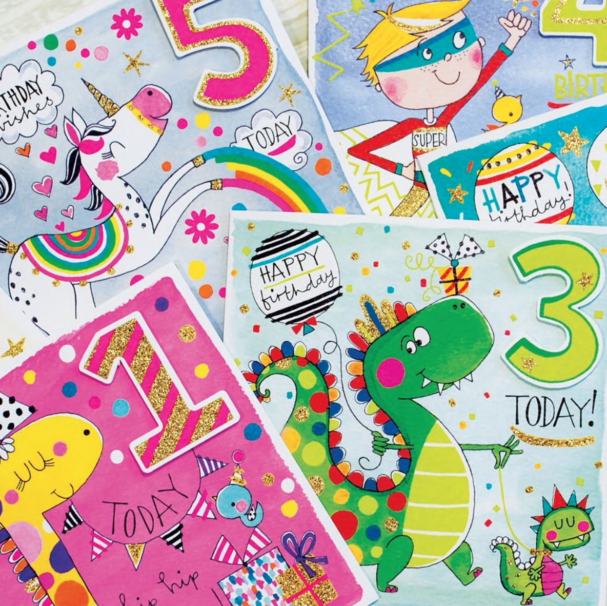 Above: There is a strong following for Rachel Ellen Designs' children's cards.