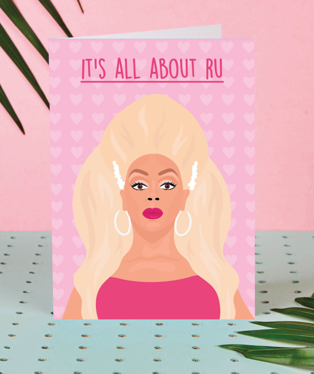 Above: Drag queen RuPaul is right up there on the celeb status as wonderfully depicted on this Rumble Cards' design.