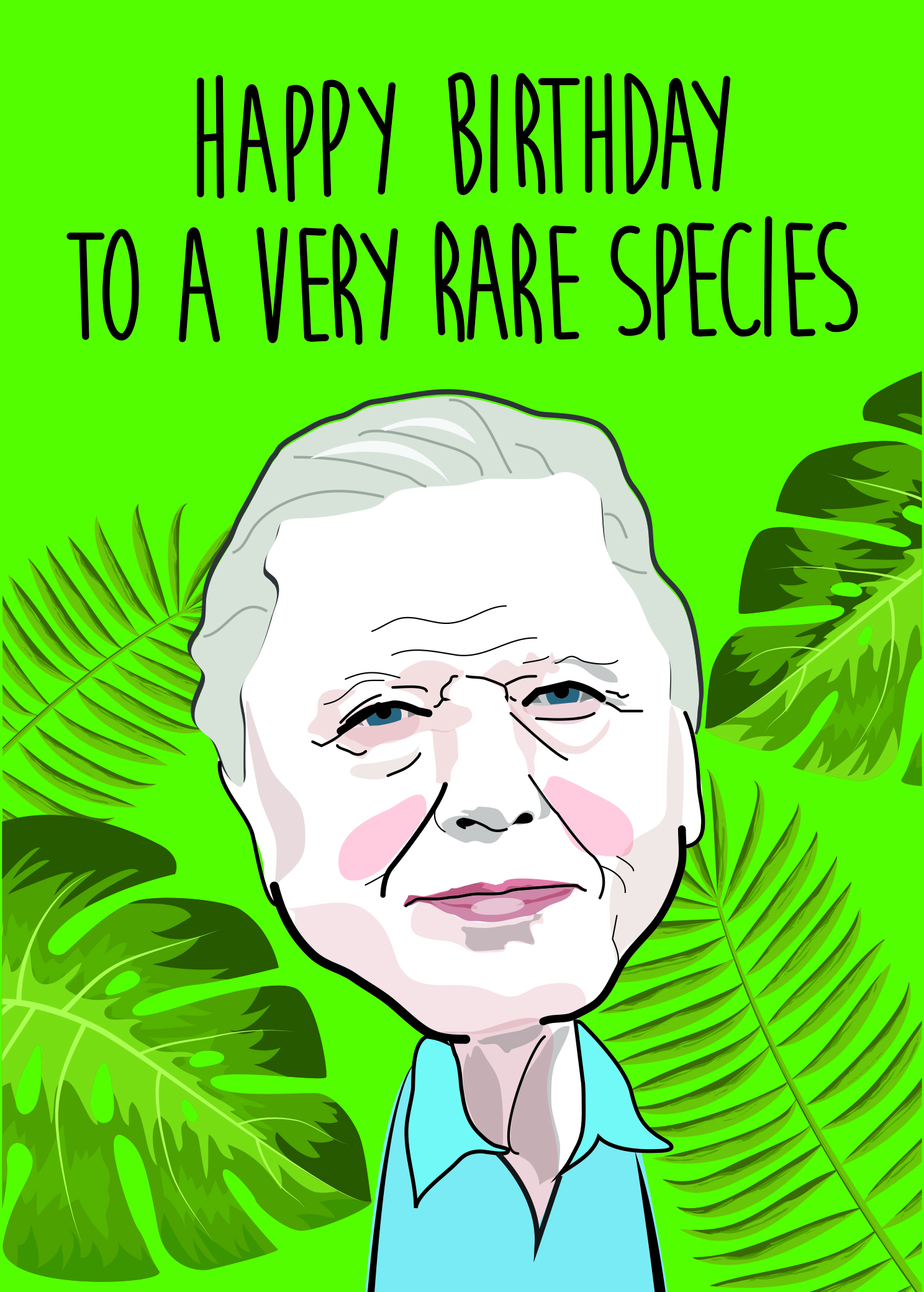Above: Sie David Attenborough as depicted by illustrator Jo Burrows for Cath Tate's Modern Icons range.