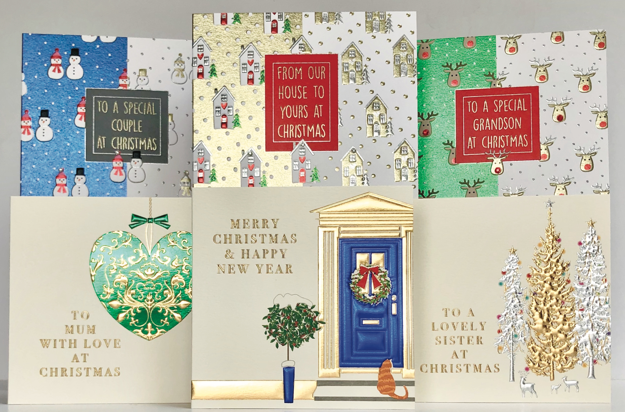 Above: Some of the new Christmas designs from Wendy Jones-Blackett.
