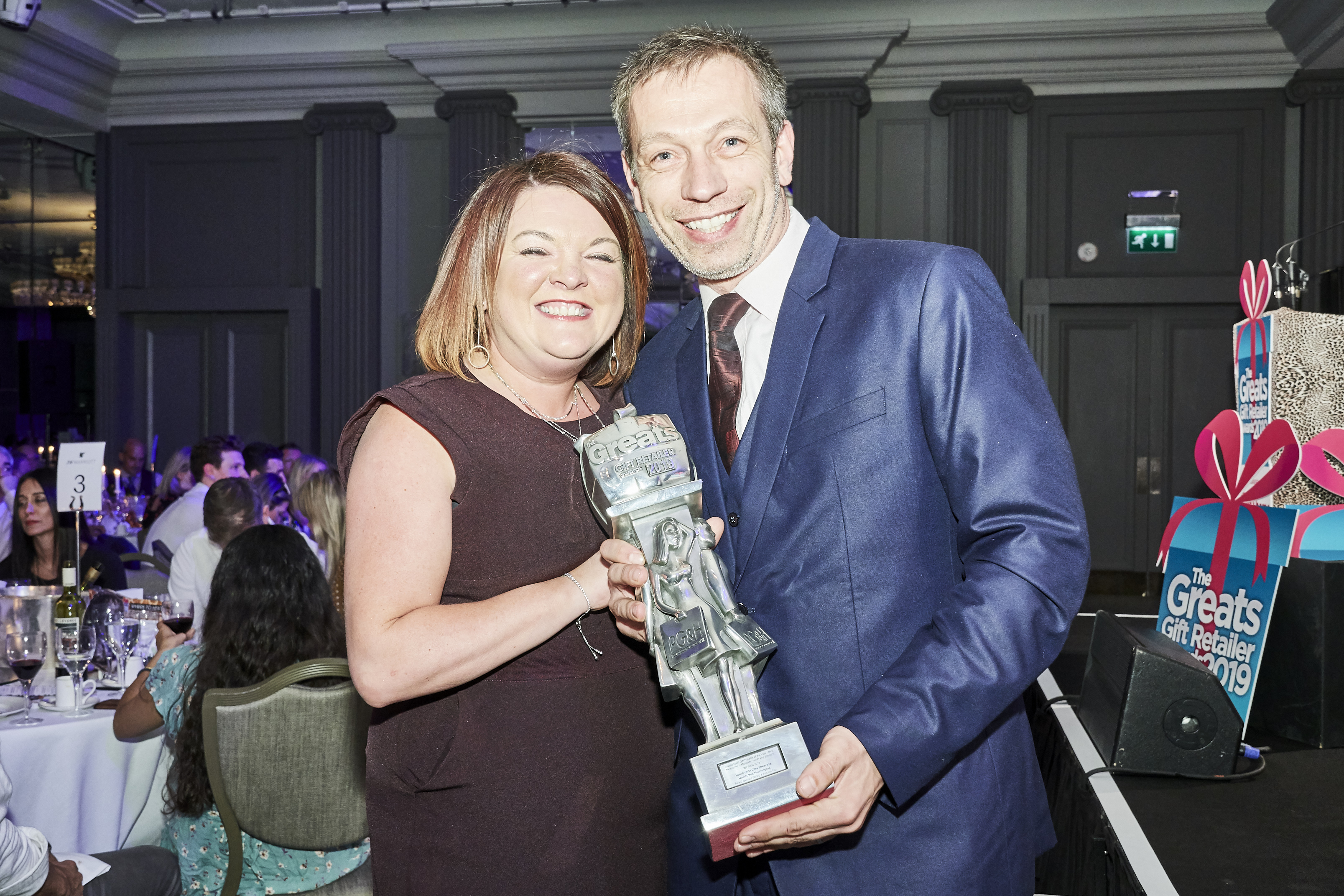 Above: Paul and Rachel Roberts with their The Greats 2019 gift retailer award they won last May.