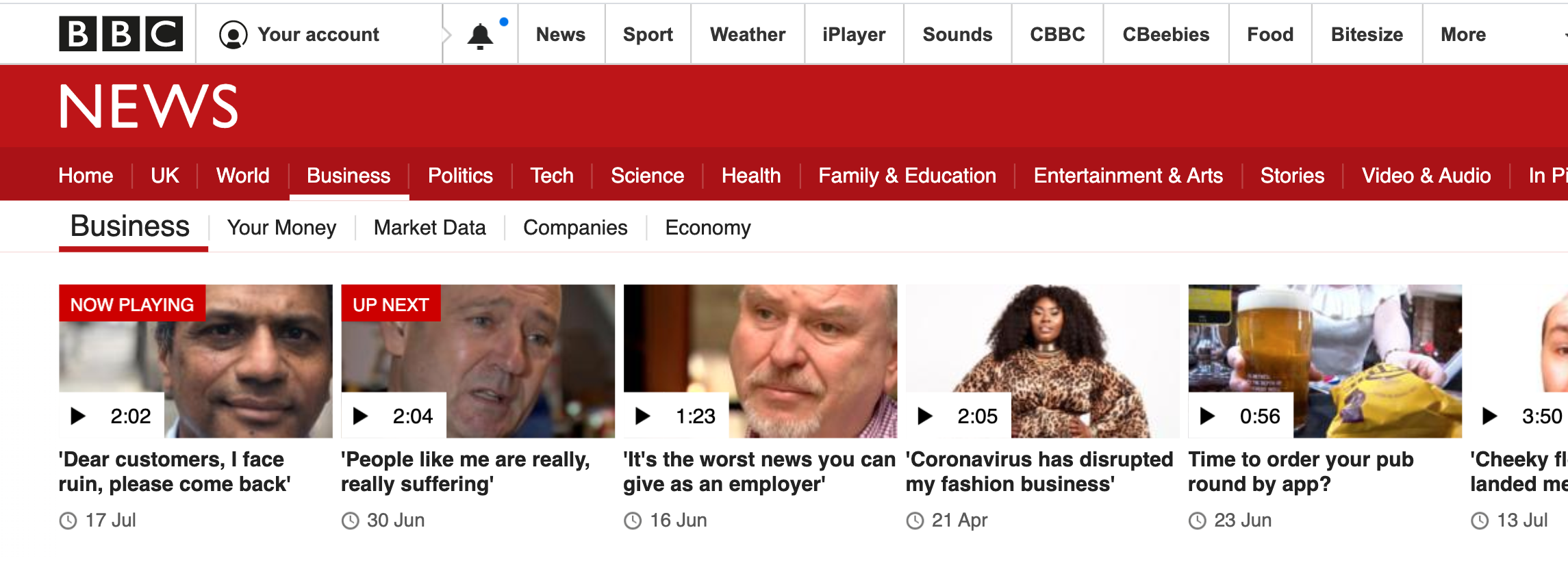 Above: Rumit's plea was one of the top video stories on the BBC News site today.