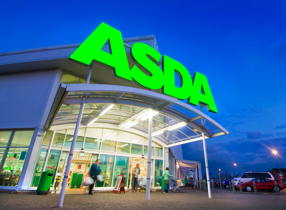 Above: Supermarkets, such as Asda have been well placed to grow their card sales, both during lockdown as well as now as the public limit their shopping trips out.