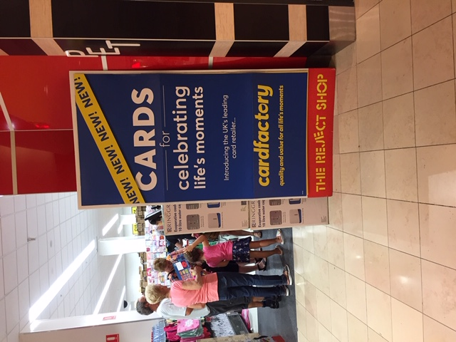 Above: The retail partnership with The Reject Shop has seen Card Factory expand in Australia.