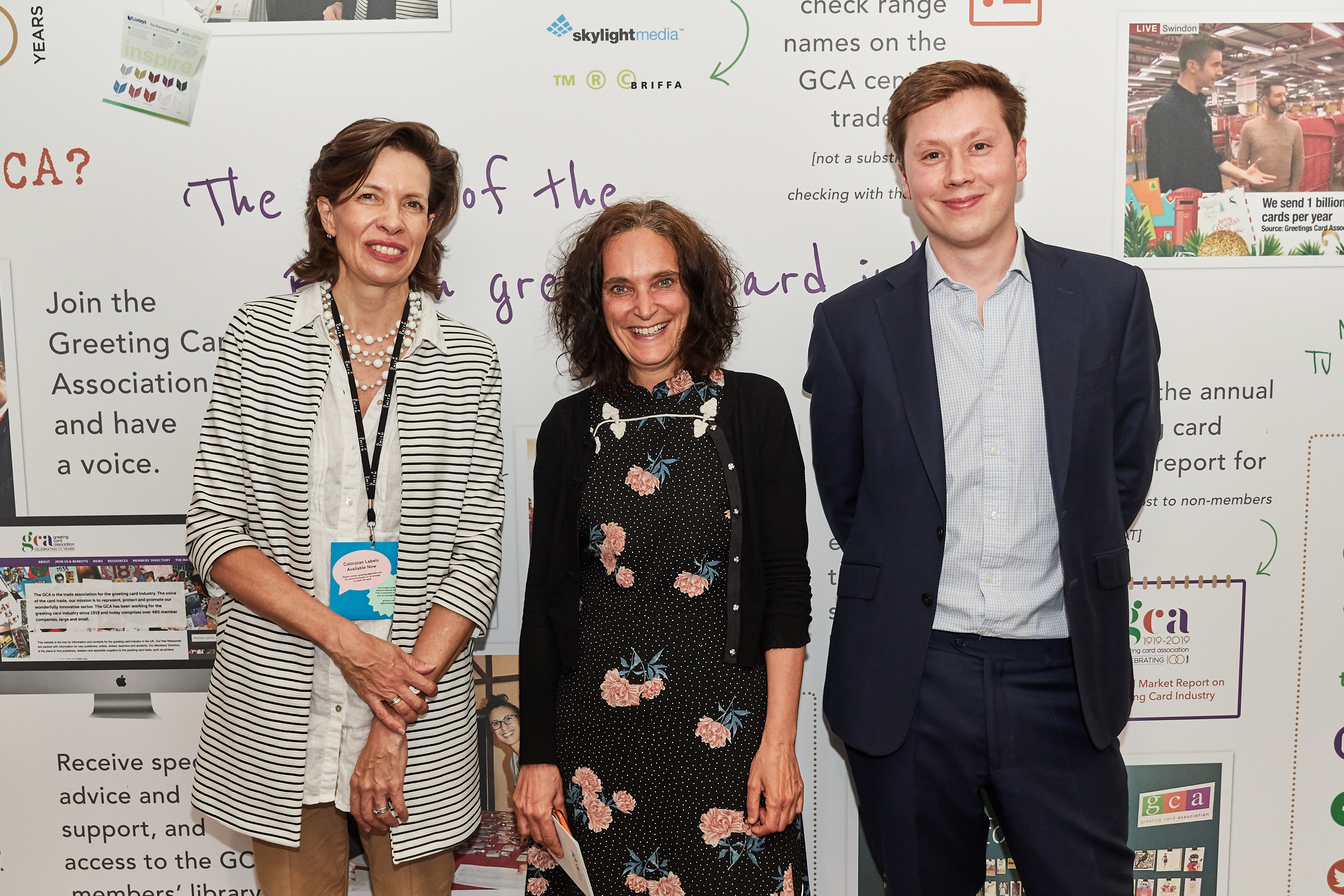 Above: (left-right) GCA's ceo Amanda Fergusson with Briffa's Margaret Briffa and William Miles at last year's PG Live. Briffa is based in London's Business Design Centre, where PG Live takes place.