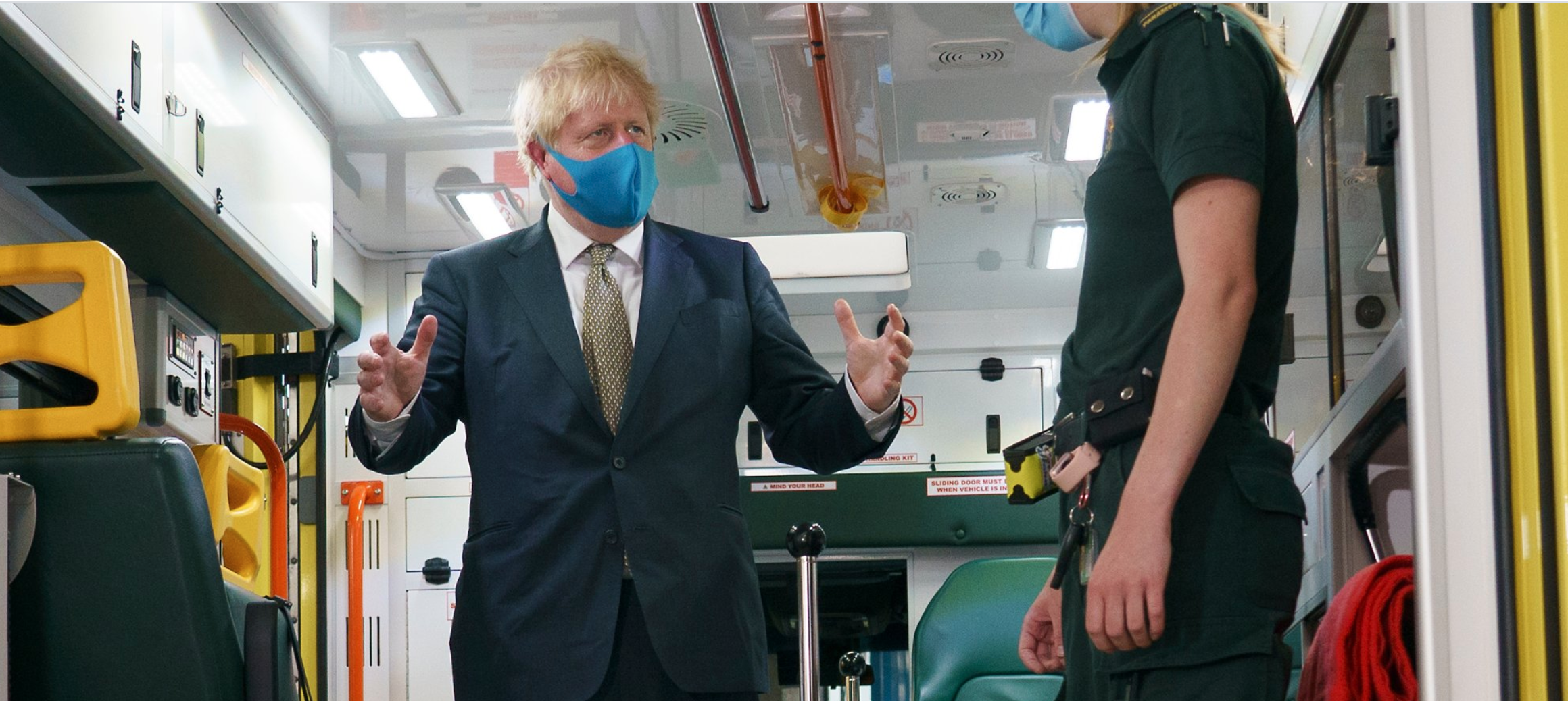 Above: There has been a bit of dilly-dallying by the Government on the face covering issue, but PM Boris Johnson is now ramming home the message that wearing them will help spread Covid-19.
