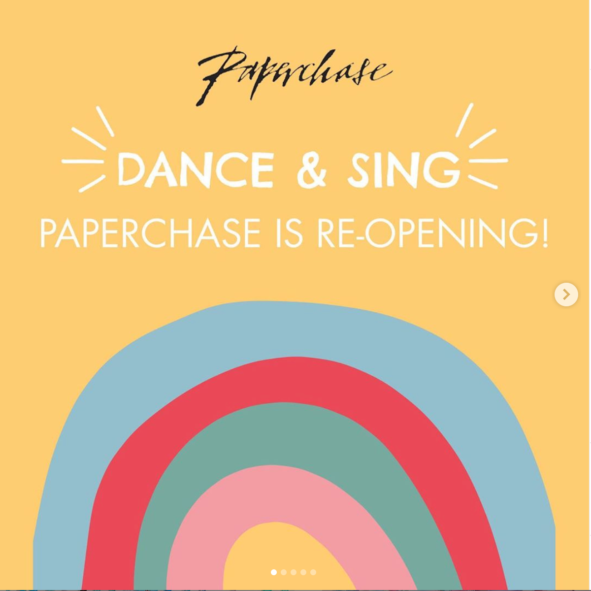 Above: Paperchase has adopted a three phased re-opening programme for its stores.