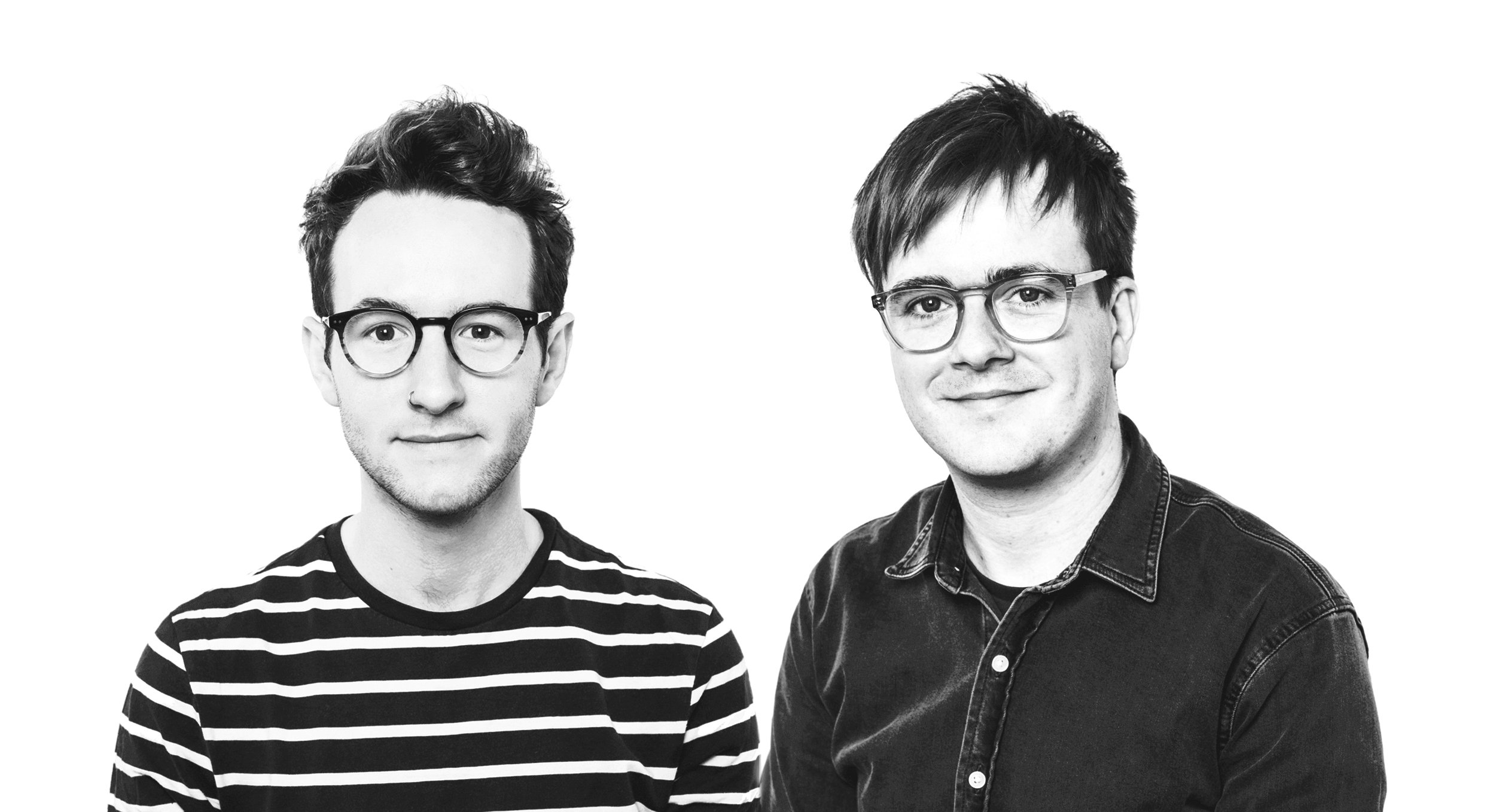 Above: Ohh Deer's Mark Callaby (right) and Jamie Mitchell.
