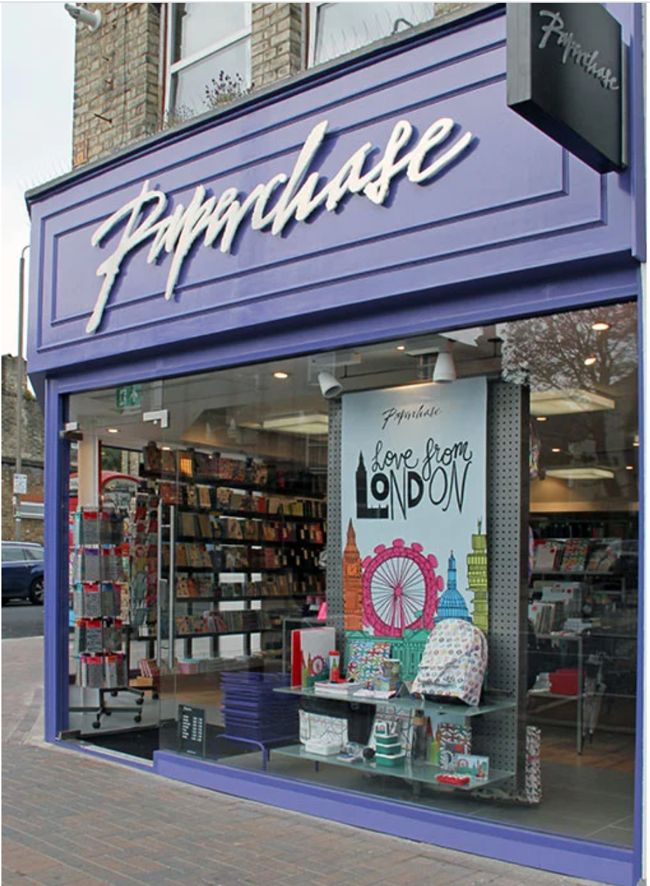 Above: Paperchase's store in Battersea's Northcote Road was in the first phase of re-opening as it is in a residential area.