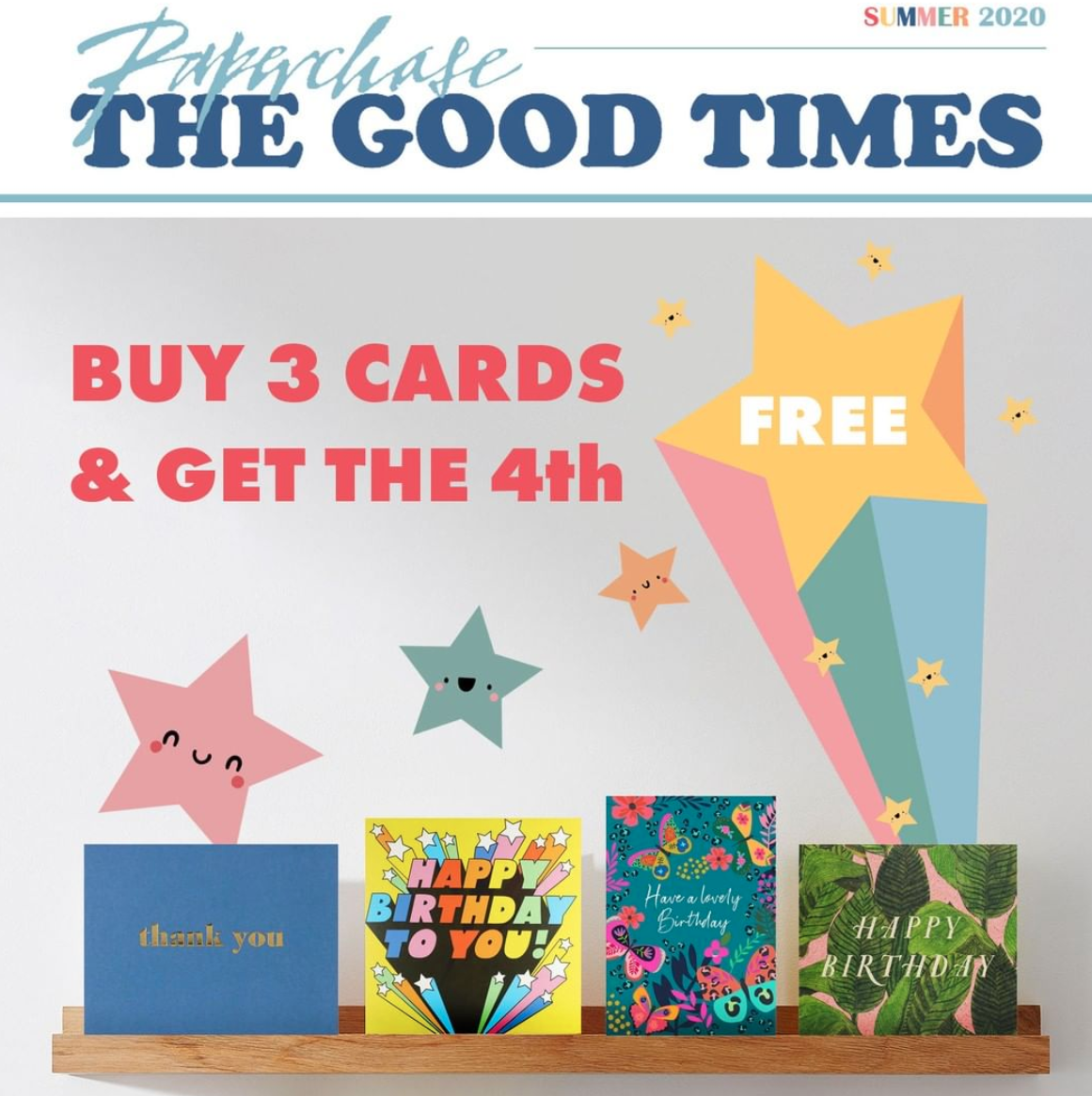 Above: A current Paperchase promotion.