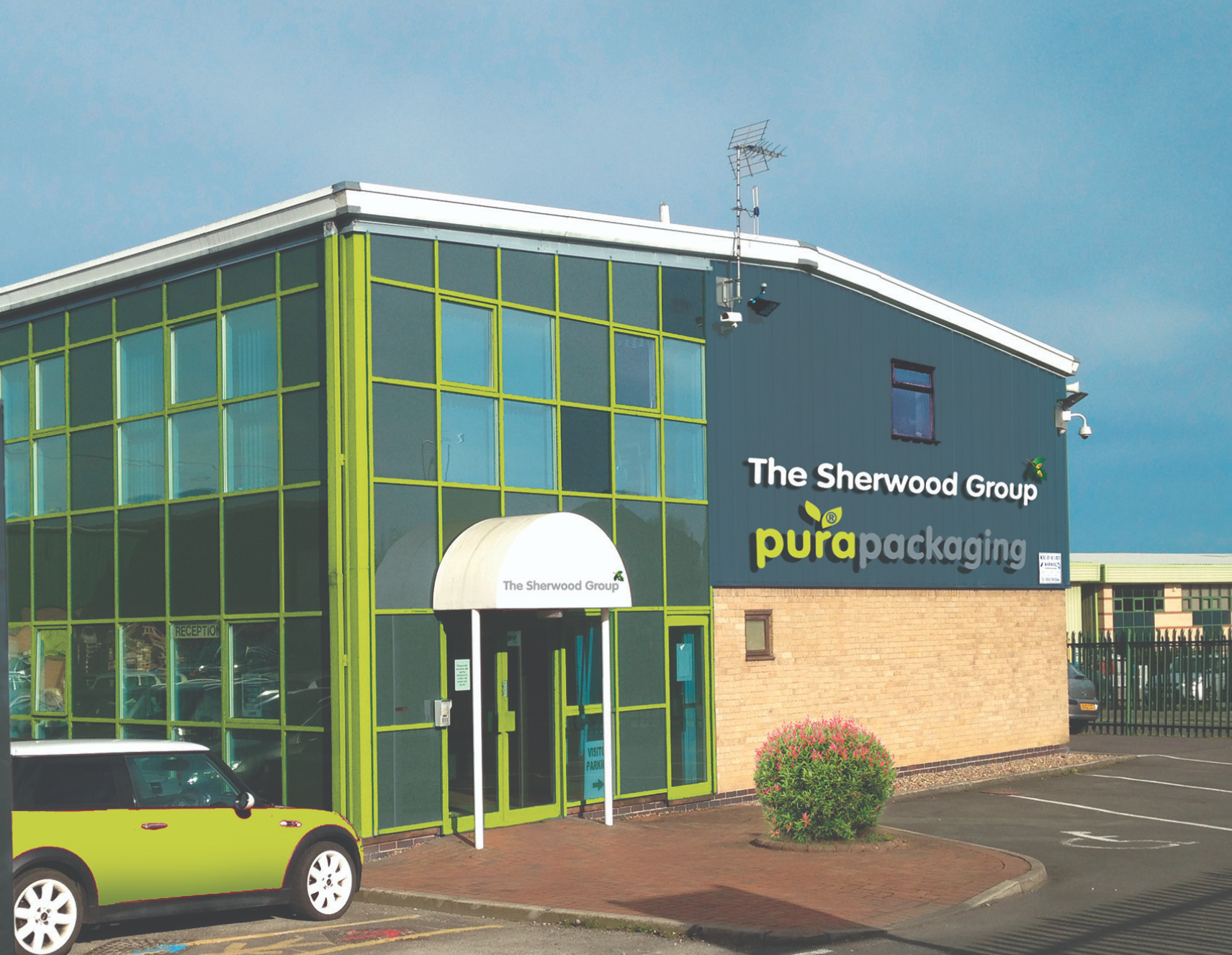 Above: Nottingham-based Sherwood has been working throughout as it has been seen as 'essential', producing food packaging.