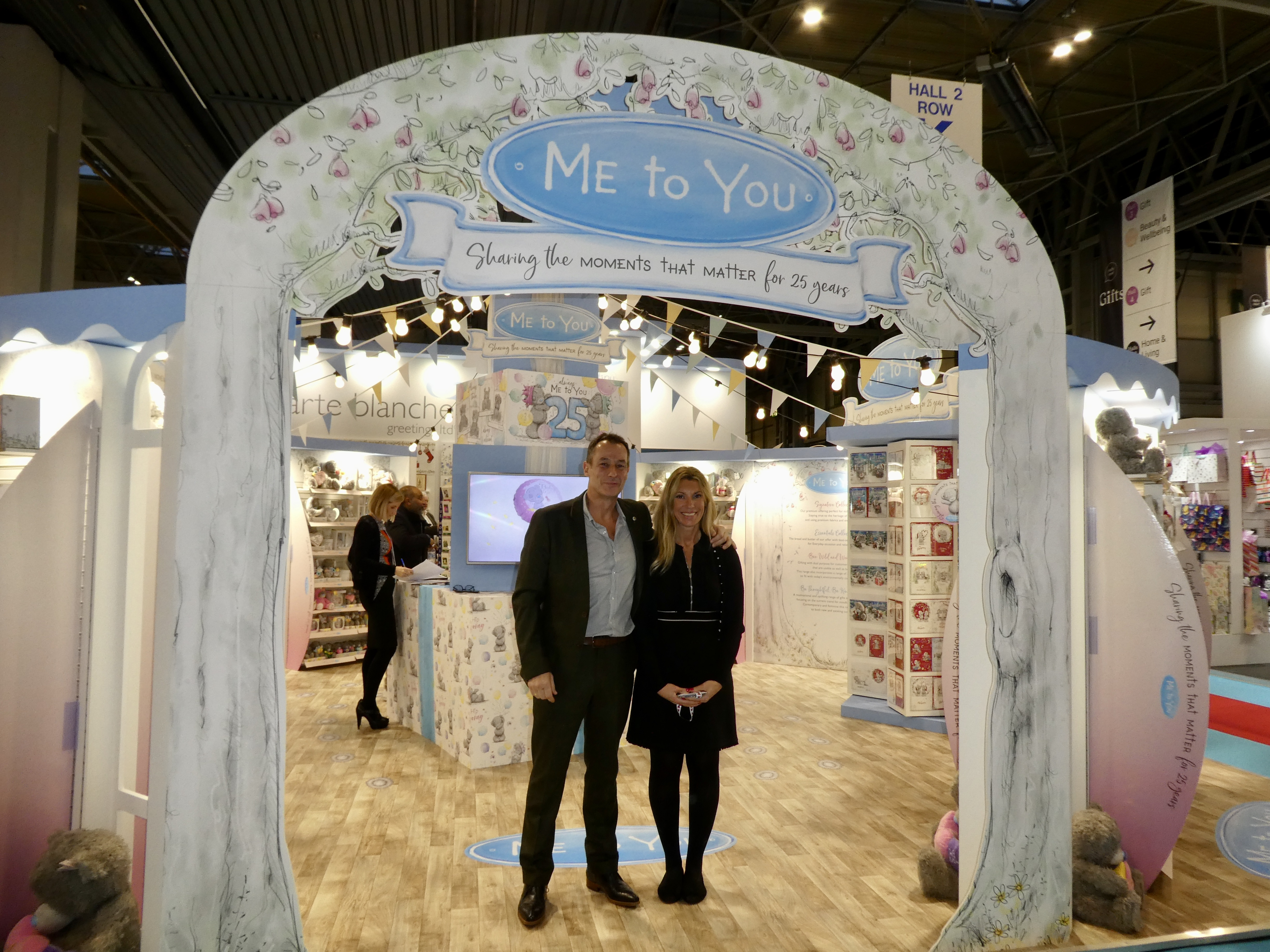 Above: CBG's Alister Marchant and Grace Elphinstone on the company's stand at Spring Fair in February.