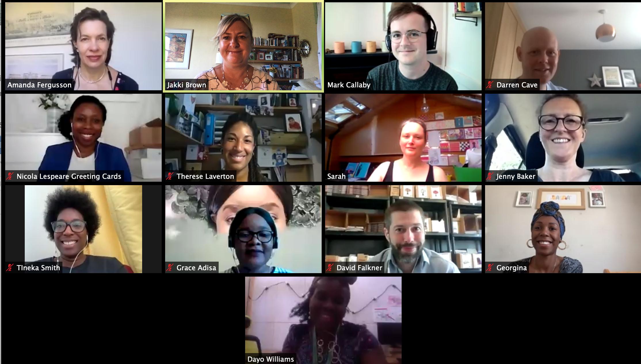 Above: Tineka Smith (bottom left hand corner) at yesterday's GCA Diversity Sub-committee meeting.