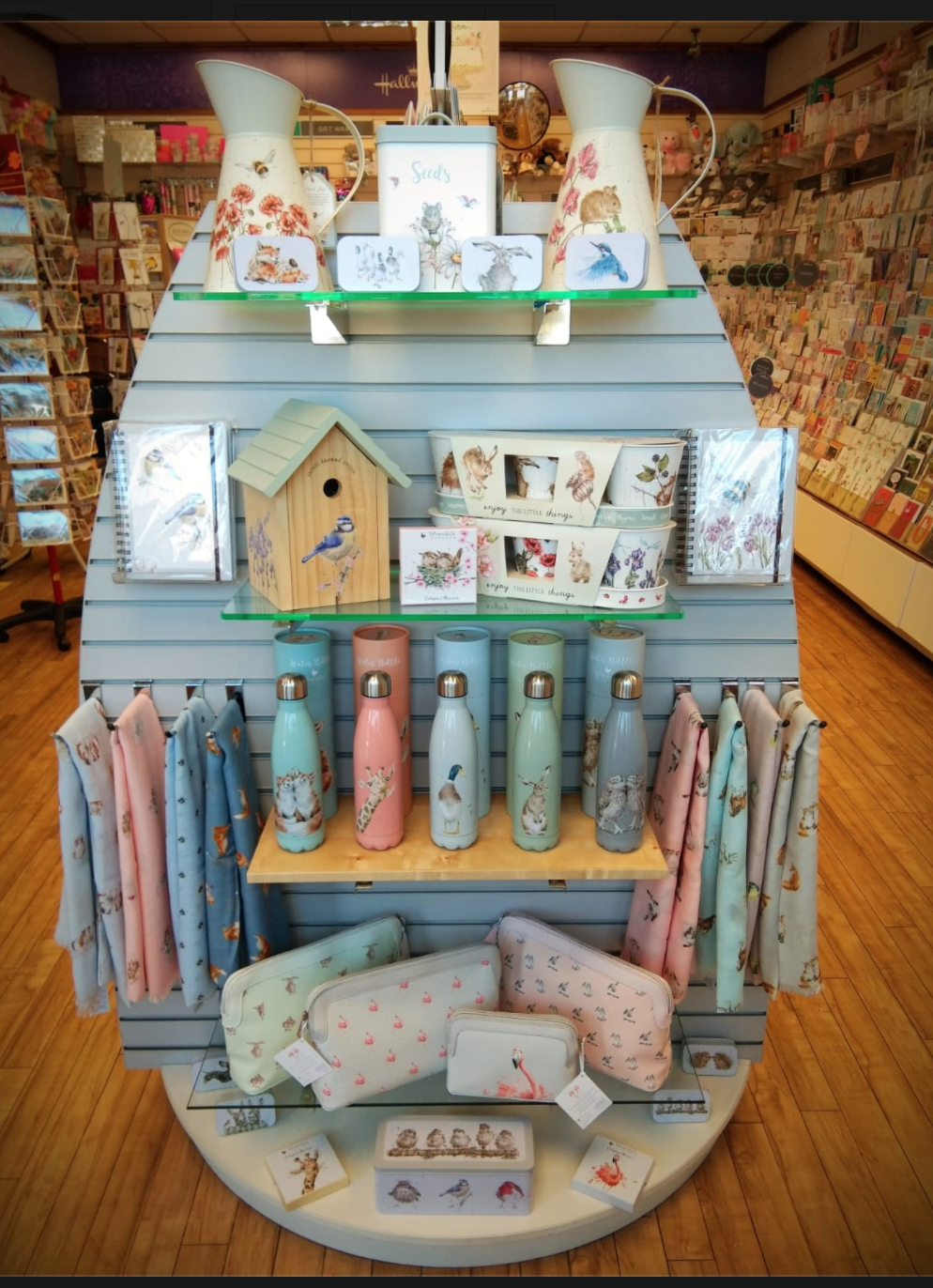 Above: A lovely new display of Wrendale products in Celebrations.
