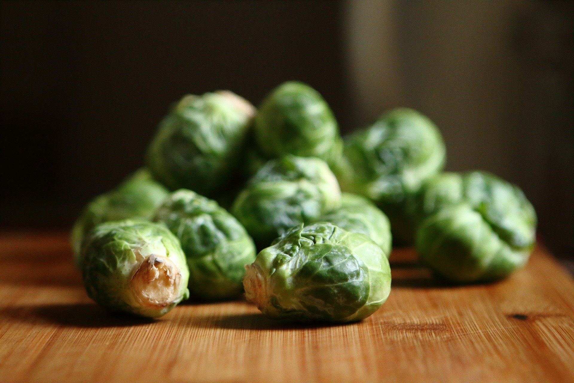 Above: Brussels sprouts is the taste of the 'new normal' for Jo Wilson.