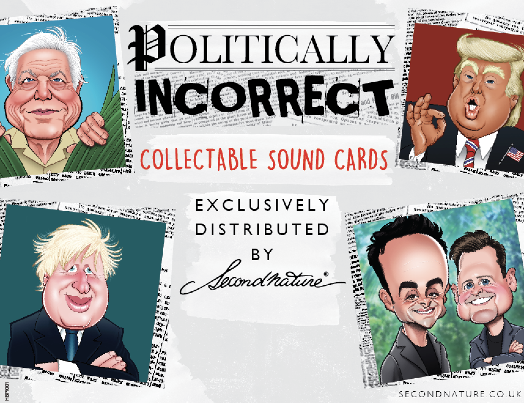 Above: The Politically Incorrect cards are being dual-branded Really Wild Cards as well as Second Nature.