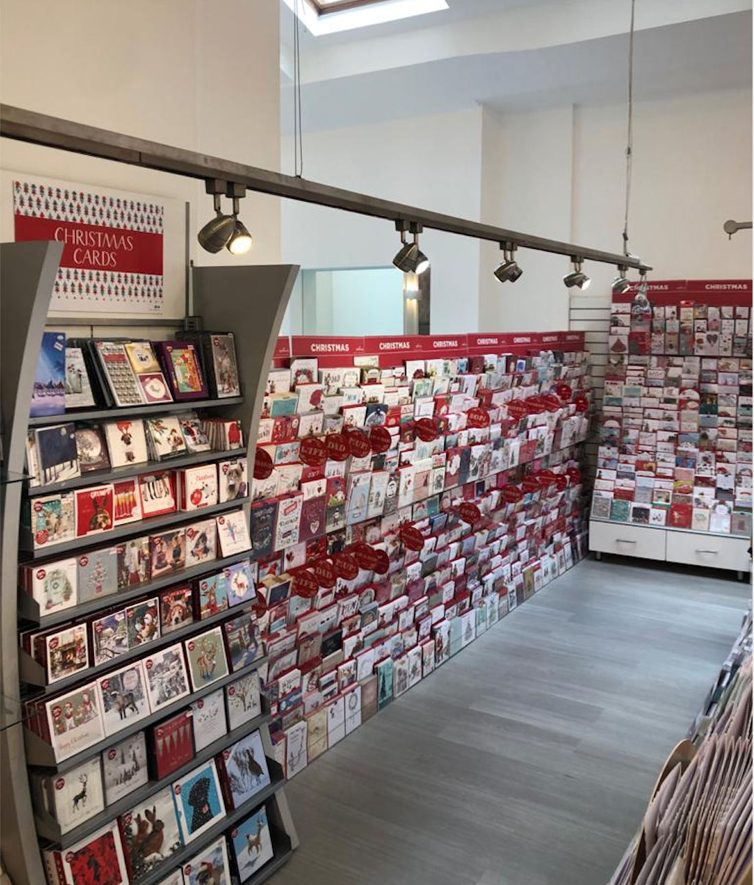Above: The current Celebrations counter card display includes designs from IC&G, Ling, Second Nature, Jonny Javelin, Wendy Jones-Blackett, Belly Button and Tracey Russell, among others.