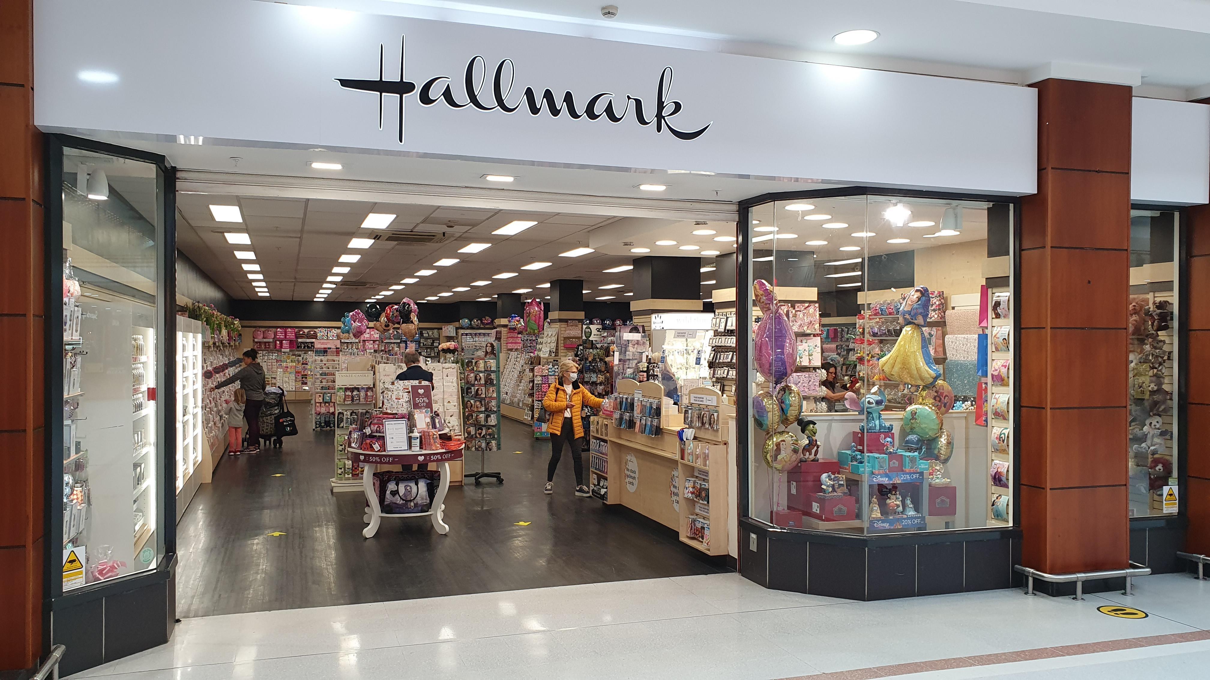 Above: Cardzone's new store in Belfast's prestigious Forestside centre has a Hallmark fascia.