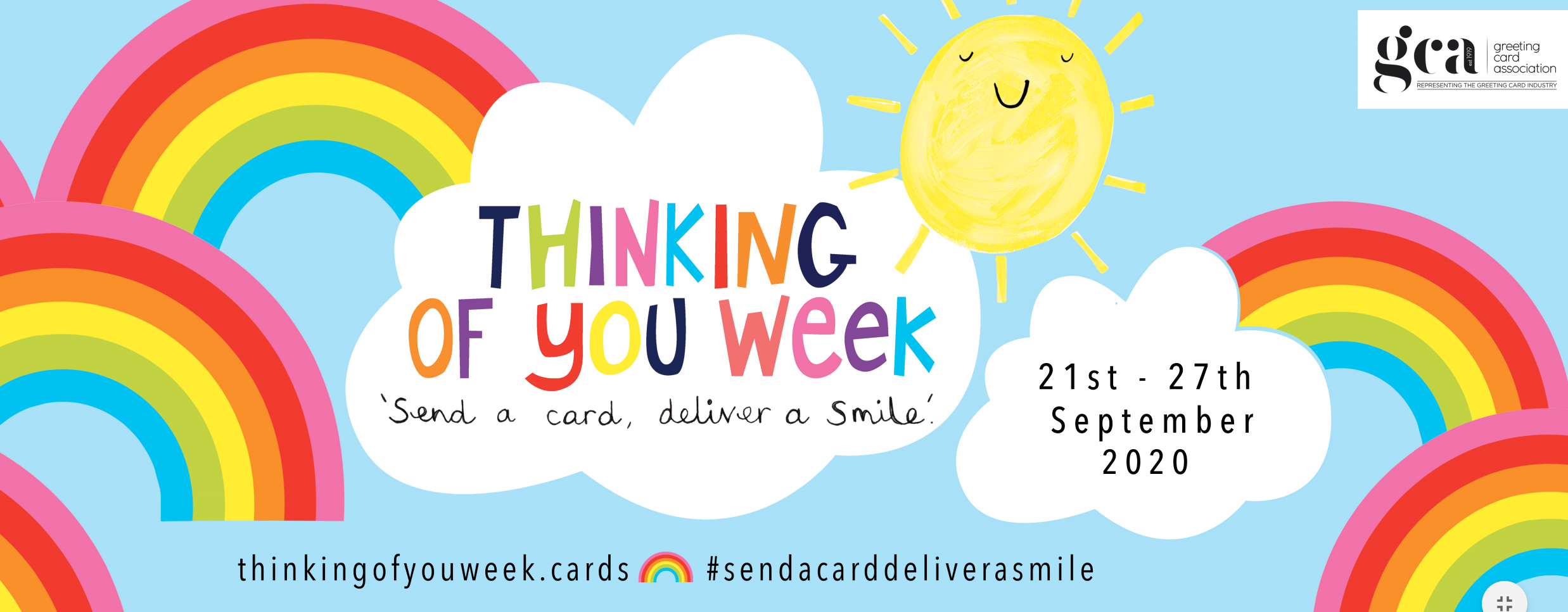 Above: The GCA-instigated Thinking of You Week hopes to encourage more people to send cards to show support, sending love or just to say hello.