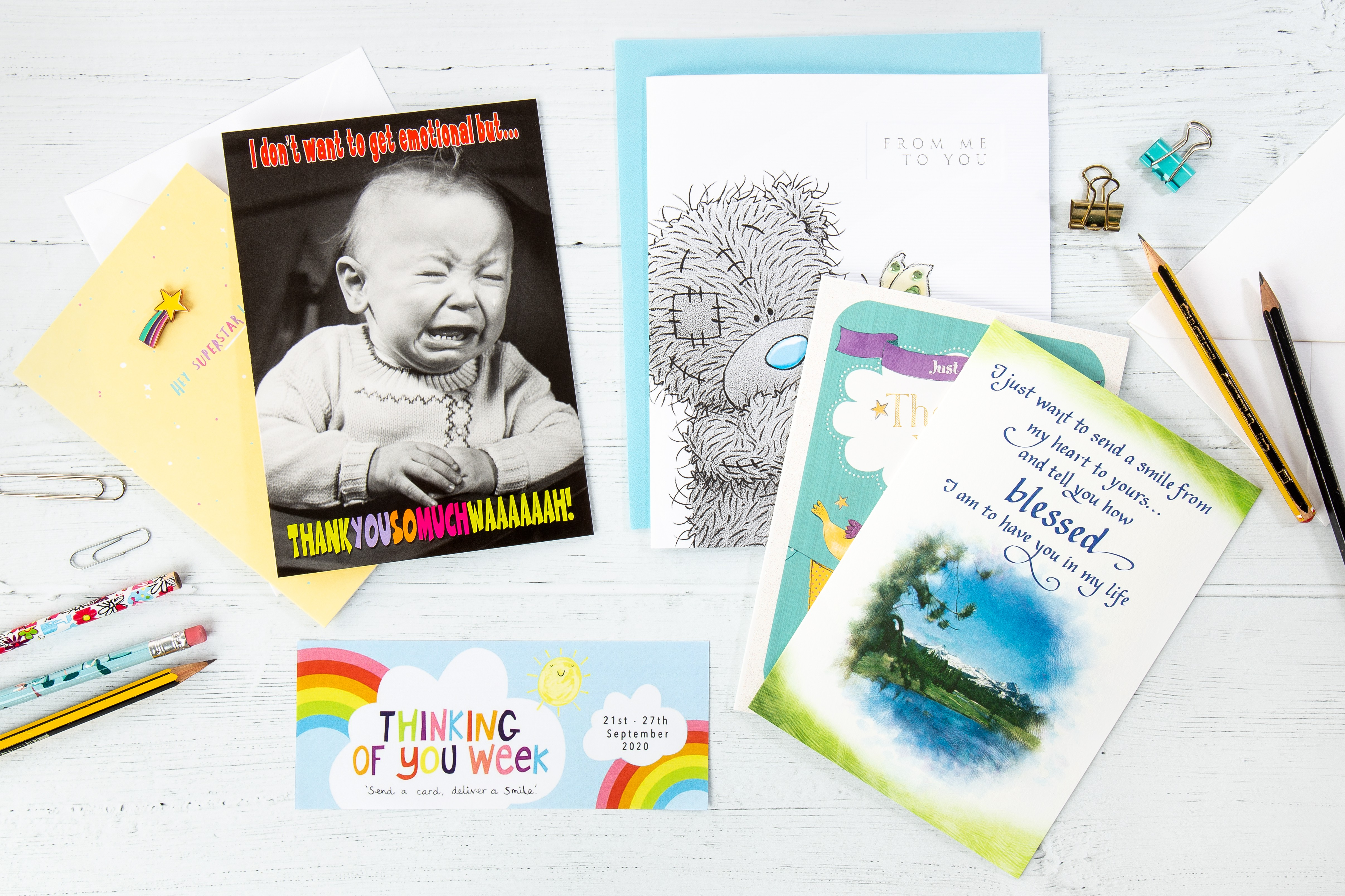 Above: Carte Blanche has come up with a great retailer promotion, offering free cards, as part of its Thinking of You Week activity.